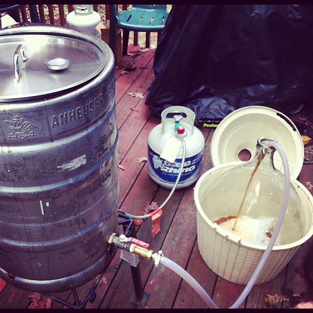 Transferring the wort