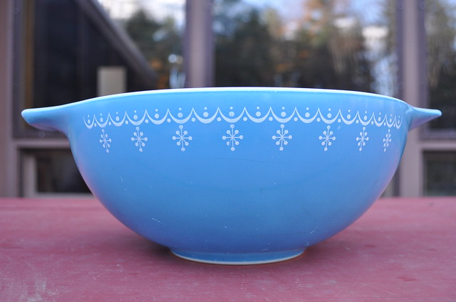 Snowflake Blue Mixing Bowl