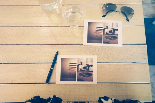 習慣每次出門也給自己寄名信片