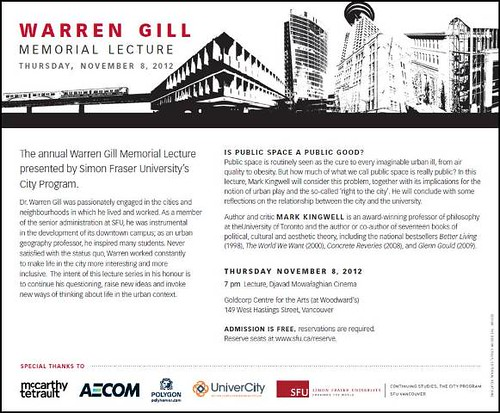 2012 Warren Gill Lecture