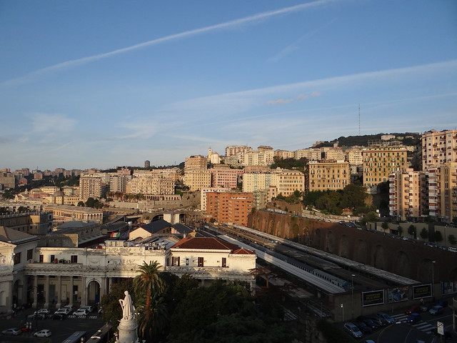 View from Grand Hotel Savoia Genoa Italy