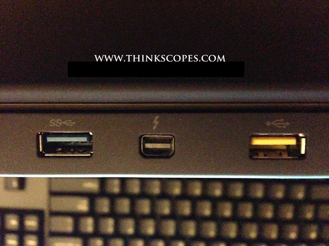 Lenovo ThinkPad T430s Thunderbolt port