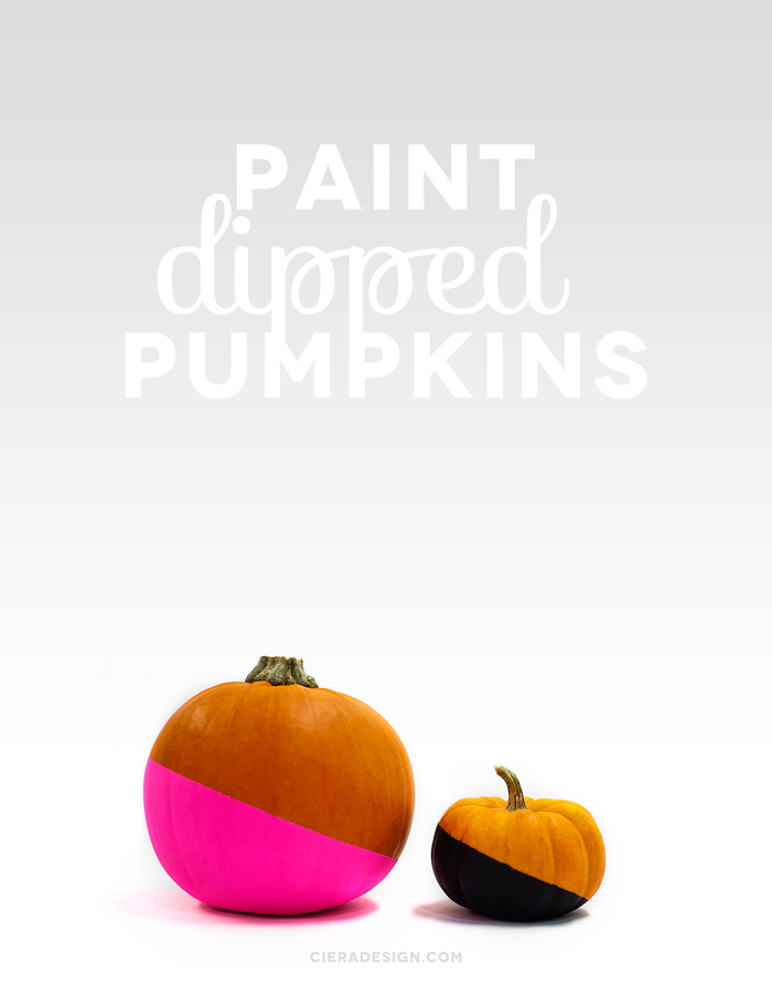 Paint Dipped Pumpkins DIY