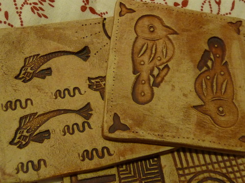 Handmade Pottery Tile Coaster