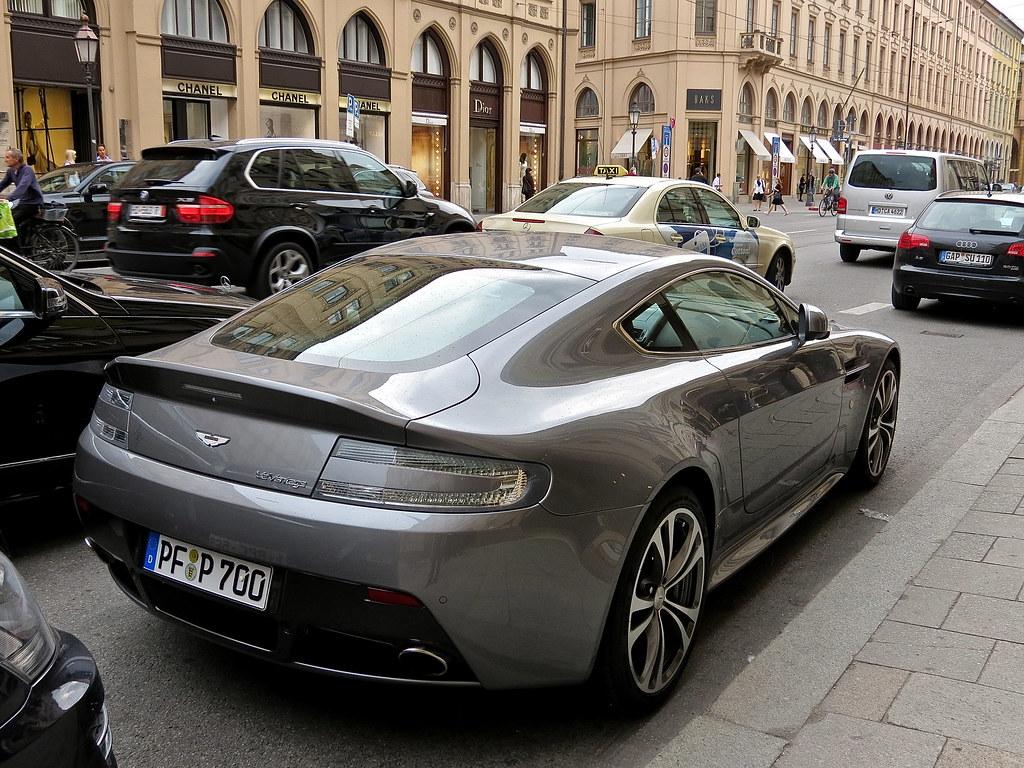 Spotted Aston Martin V12 Vantage Munich Germany Mind