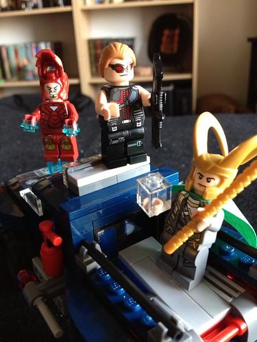 Yes, Iron Man's mask flips up!