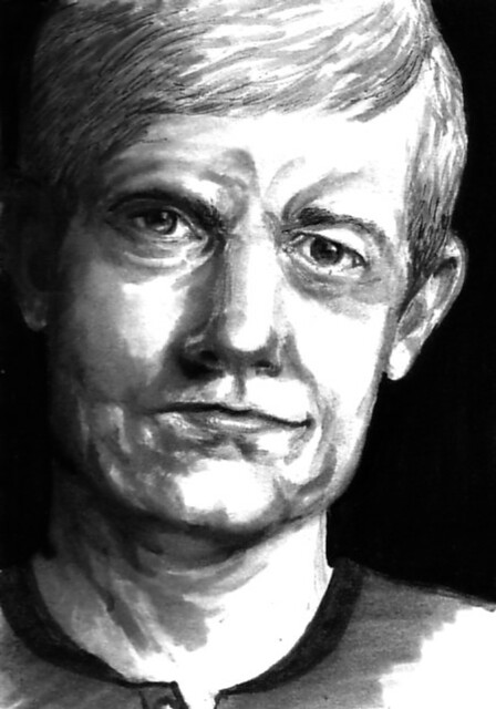 drawing of Martin Freeman, actor