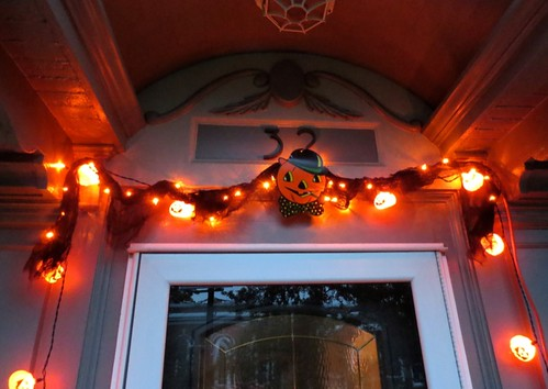 Halloween outdoor lights detail