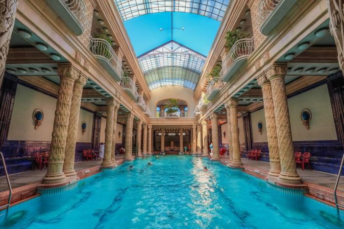 Clear water in Gellert bath, Budapest