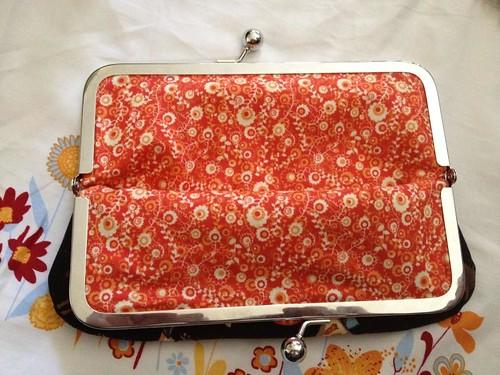 Inside metal frame purse