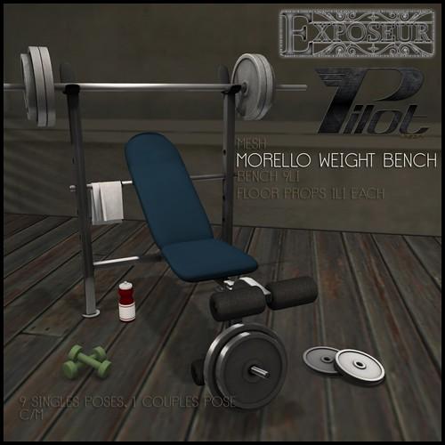 Pilot and Exposeur - Morello Weight Bench