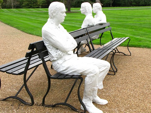 Three People on For Benches by George Segal