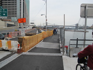 Cycle Track Construction Begins