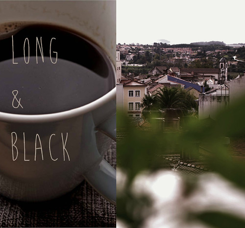 black & long coffee | rainy mornig