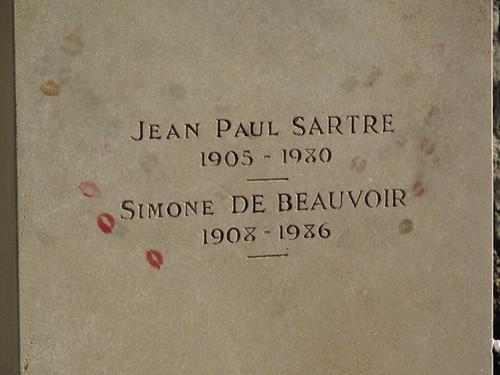 Resting place of Jean Paul Sartre and Simone de Beauvoir