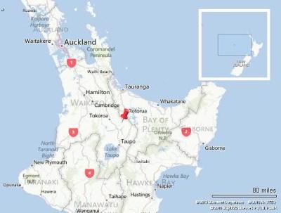 Rotorua NZ map