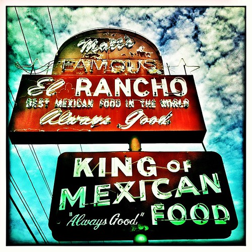"""Always Good"" -- vintage neon sign for Matt's El Rancho in Austin, Texas"