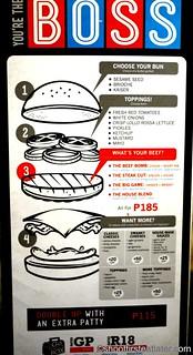 Burger Bar menu- make your own burger
