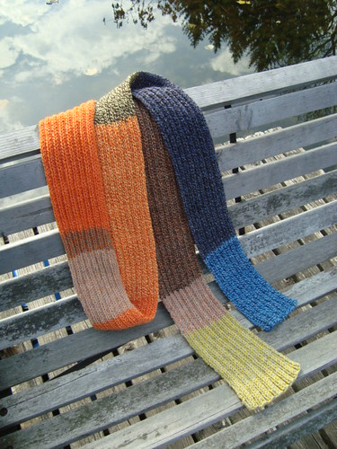 Mill Ends in scarf form