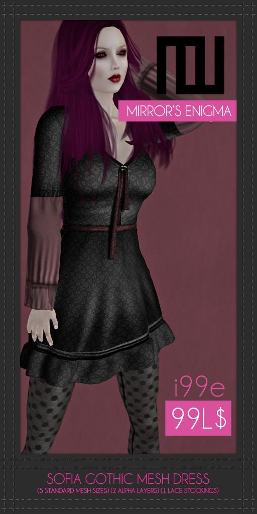 Sofia Gothic Mesh Dress