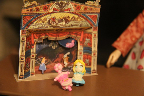 Playing with my Alice in Wonderland theatre