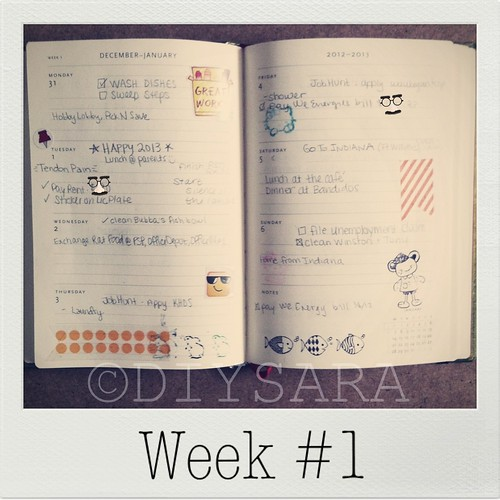My Plannerd Week... One and Two (3/4)