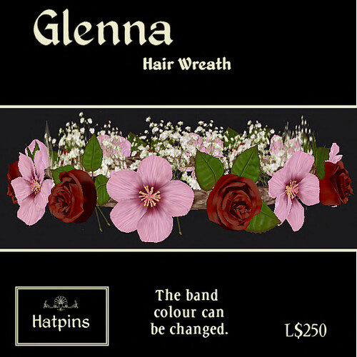Glenna Wreath - Red Rose and Pink Hibiscus - copy_mod