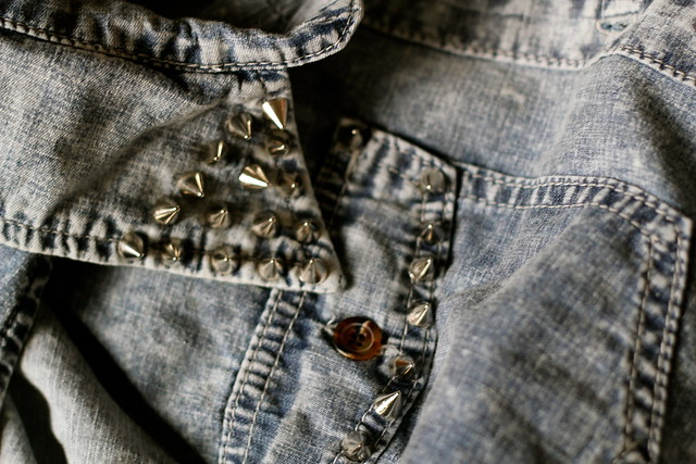 Thursday: doesn't everyone need a studded acid wash denim vest?
