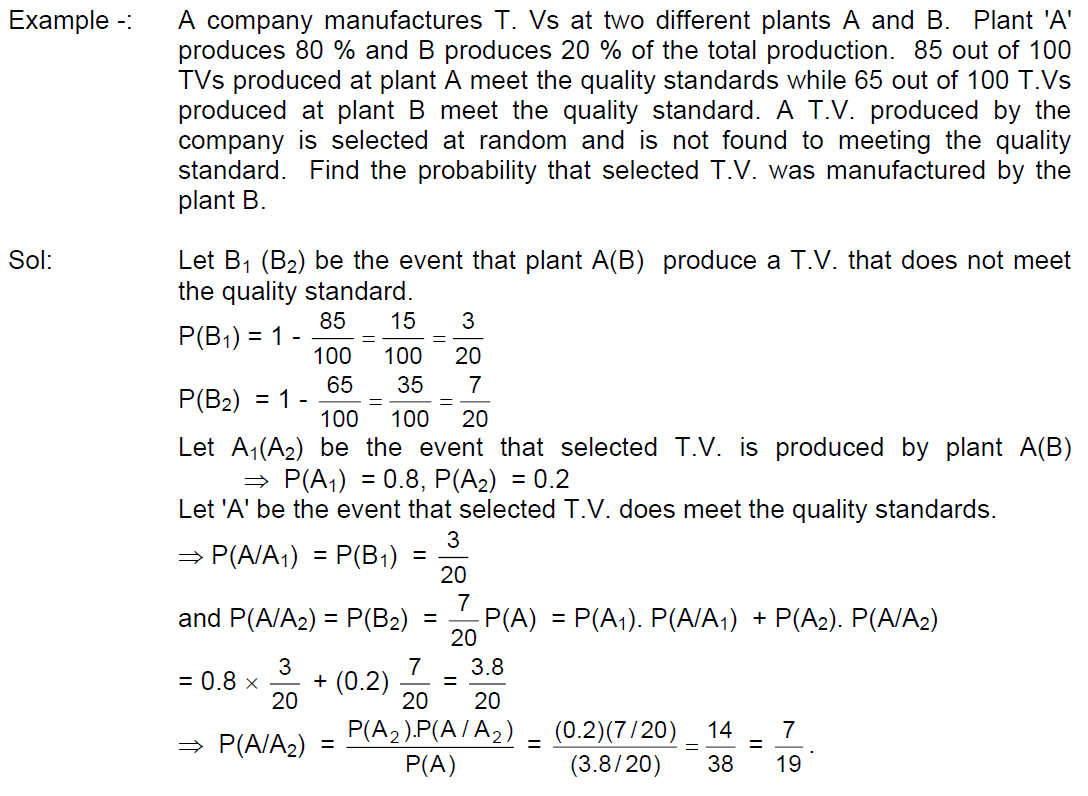 Probability Solved Problems Conditional Probability