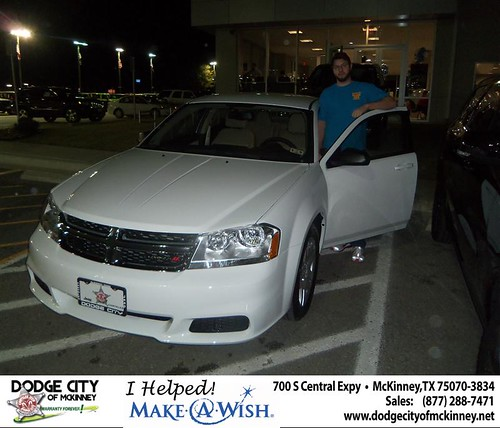 Congratulations to Nathan Conder on the 2013 Dodge Avenger by Dodge City McKinney Texas