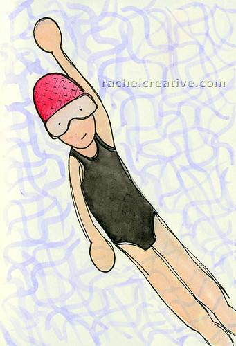 backstroke - drawing