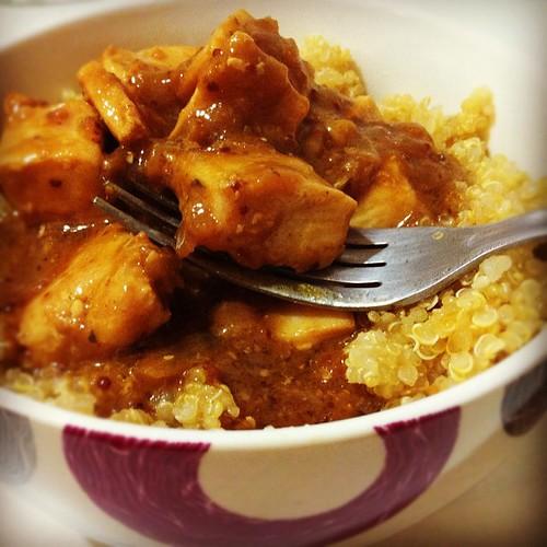 199. Quinoa e frango com mostarda