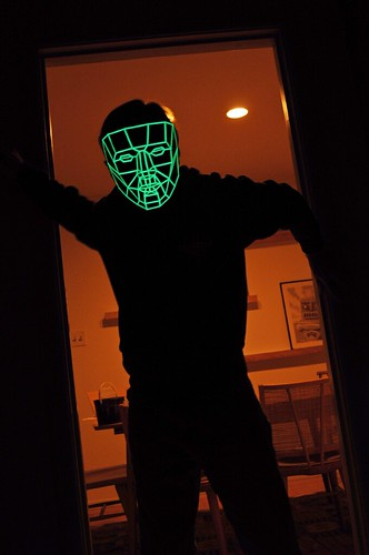 Glow-Poly Mask - In Doorway - Front