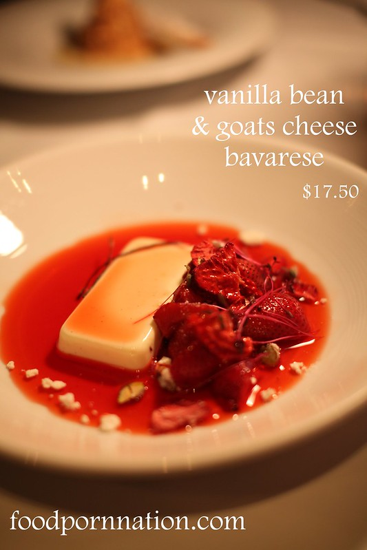 goats cheese bavarese