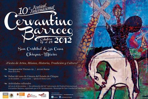 Cartel 10o Festival Internacional Cervantino Barroco