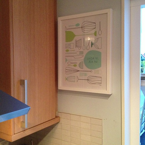 Our new kitchen art by @isaform. So pretty and perfect there.