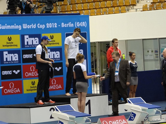 Agnel on top of the Berlin 2012 World Cup podium