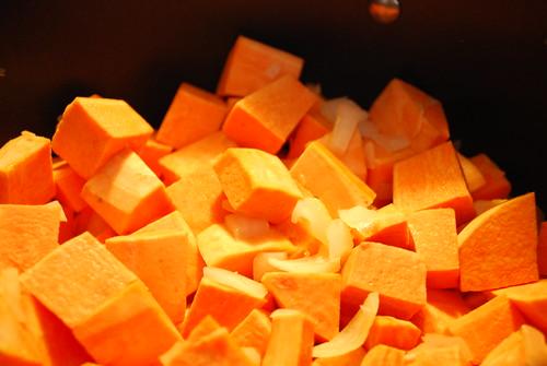 Add sweet potato...