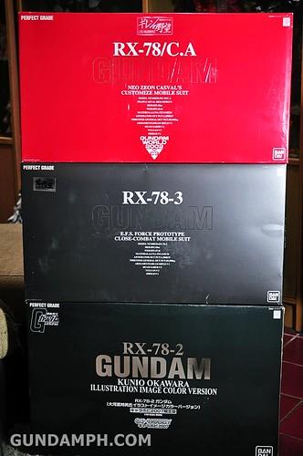 3 rare rx-78-2 PG Gundam