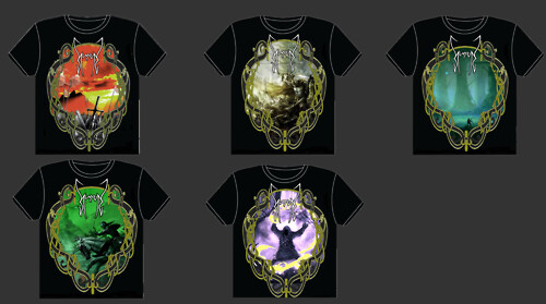 Music Artwork- T-shirt Designs for my band Hundred