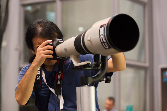 The 800mm Canon Lens.
