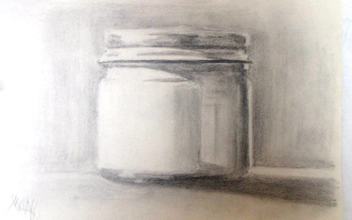 Vintage Noxema Jar Study by kim milan