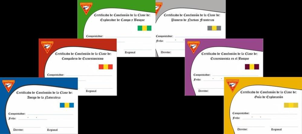 Certificados de Clases Regulares y Avanzadas (3/3)