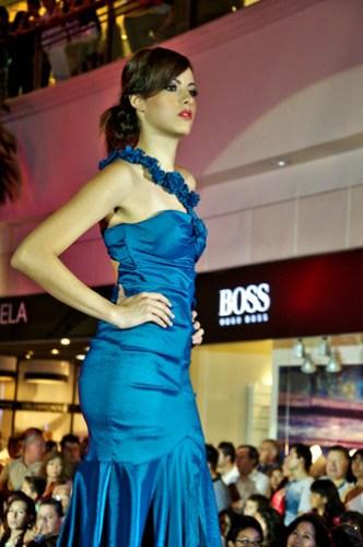 Blue roses dress