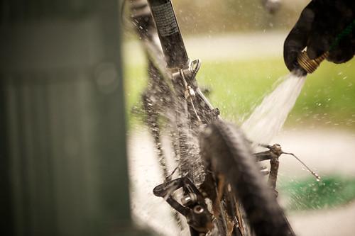 Wash down.