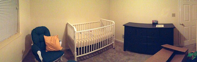 Nursery is finally coming together. Slowly but surely.