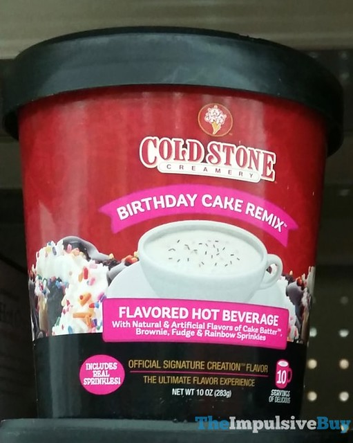 Cold Stone Creamery Birthday Cake Remix Flavored Hot Beverage