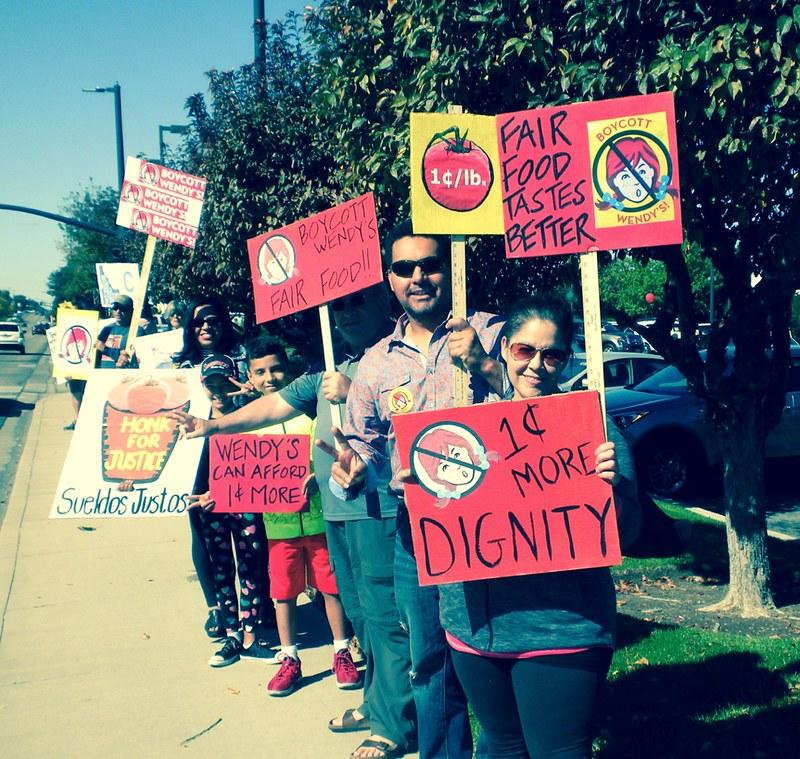 Boise, Idaho CNV 2016 - Wendy's Unfair to Farm Labor Protest (2)