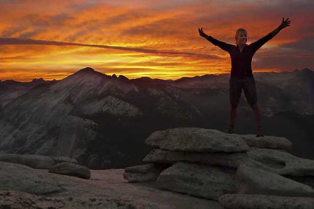 Sunrise on Half Dome
