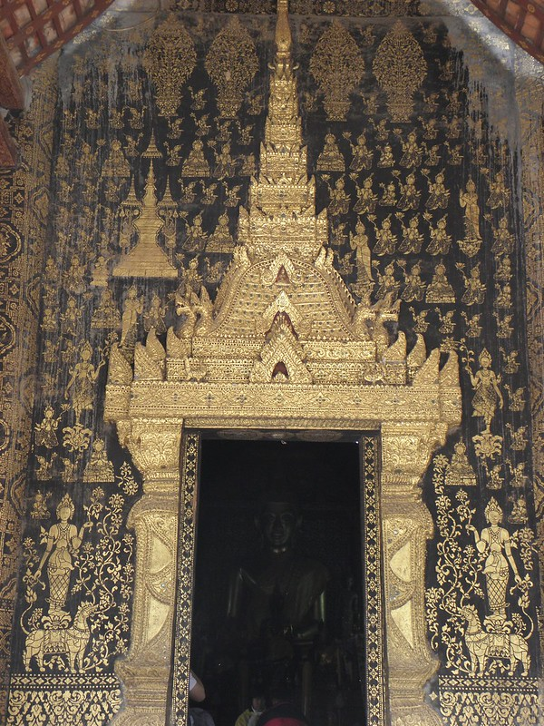 Inside a temple in Luang Prabang, northern Laos